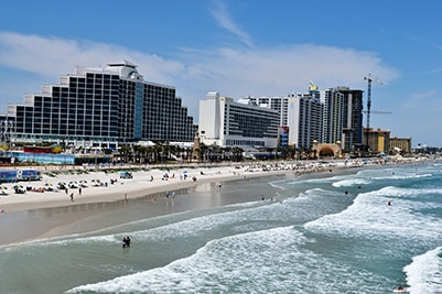 An image of building by the Daytona beach shore